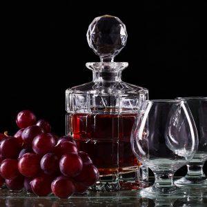 bottle, wine, dark